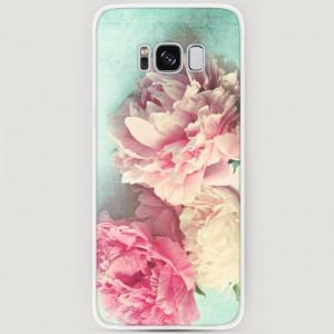 RosCase | Силиконовый чехол Пионы new на Samsung G950 Galaxy S8