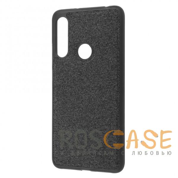 Фото Черный Fiber Logo   TPU чехол с текстильным покрытием для Huawei P30 lite / Honor 20 Lite / 20s