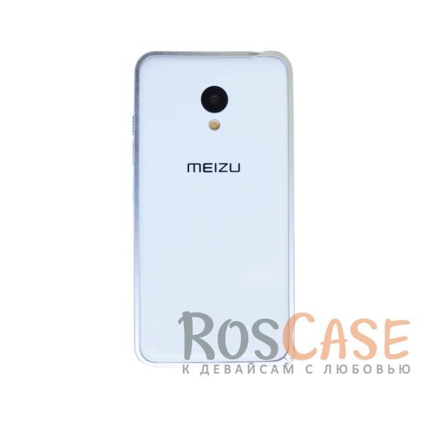 Фото Серебряный Металлический бампер для Meizu M3 / M3 mini / M3s на защелке