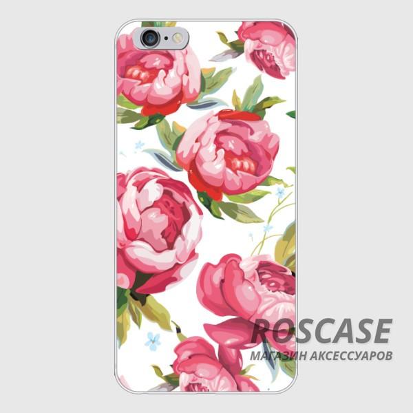 Фото Оригинальный чехол «Розовые цветы» для Apple iPhone 5/5S/SE