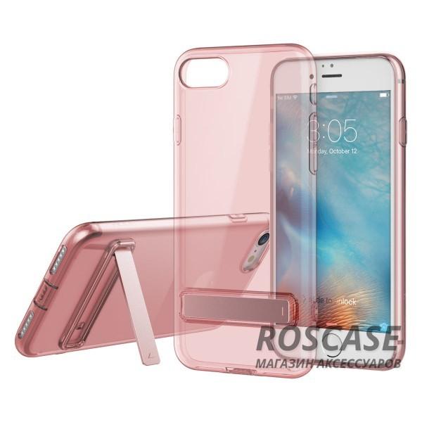 TPU чехол ROCK Slim Jacket с функцией подставки для Apple iPhone 7 / 8 (4.7) (Розовый / Transparent pink)Описание:бренд: Rock;совместим с Apple iPhone 7 / 8 (4.7);материал: термопластичный полиуретан;форма чехла: накладка.&amp;nbsp;Особенности:все функциональные вырезы предусмотрены;тонкий;прозрачный;защита от царапин и ударов;функция подставки;идеально прилегает.<br><br>Тип: Чехол<br>Бренд: ROCK<br>Материал: TPU