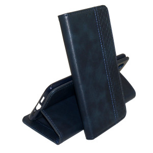 Business Wallet | Кожаный чехол книжка с визитницей  для Samsung Galaxy A01