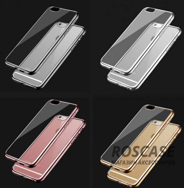 Прозрачный силиконовый чехол для Apple iPhone 6/6s (4.7) с глянцевой окантовкойОписание:подходит для Apple iPhone 6/6s (4.7);материал - силикон;тип - накладка.Особенности:глянцевая окантовка;прозрачный центр;гибкий;все вырезы в наличии;не скользит в руках;ультратонкий.<br><br>Тип: Чехол<br>Бренд: Epik<br>Материал: Силикон