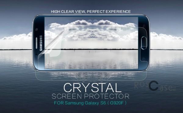 Защитная пленка Nillkin Crystal для Samsung Galaxy S6 G920F/G920D Duos (Анти-отпечатки)Описание:бренд:&amp;nbsp;Nillkin;совместима с Samsung Galaxy S6 G920F/G920D Duos;материал: полимер;тип: защитная пленка.&amp;nbsp;Особенности:в наличии все необходимые функциональные вырезы;не влияет на чувствительность сенсора;глянцевая поверхность;свойство анти-отпечатки;не желтеет;легко очищается.<br><br>Тип: Защитная пленка<br>Бренд: Nillkin