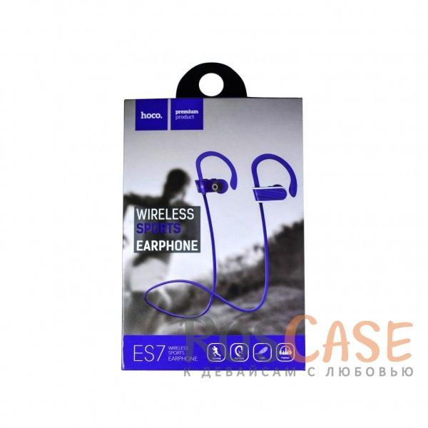 Изображение Фиолетовый HOCO ES7 | Беспроводные наушники с микрофоном и специальным креплением