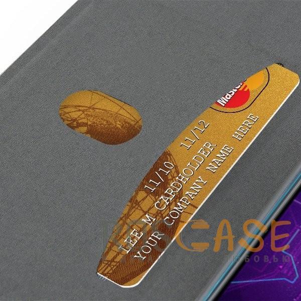 Изображение Черный Open Color 2 | Чехол-книжка на магните для Xiaomi Mi 8 Lite / Mi 8 Youth (Mi 8X) с подставкой и внутренним карманом