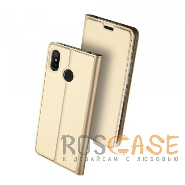 Изображение Золотой Dux Ducis | Чехол-книжка для Xiaomi Mi A2 Lite / Xiaomi Redmi 6 Pro с функцией подставки и картхолдером