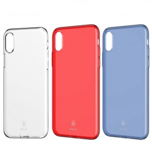 "Baseus Simple Ultrathin   Прозрачный чехол для Apple iPhone X (5.8"")/XS (5.8"") с заглушкой"
