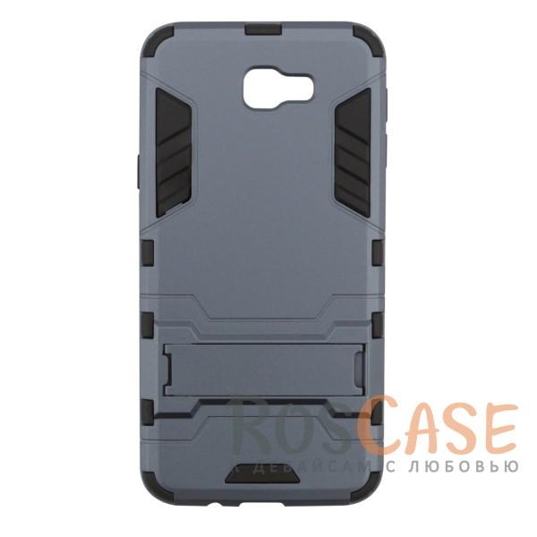 Ударопрочный чехол-подставка Transformer для Samsung G570F Galaxy J5 Prime с мощной защитой корпуса (Серый / Metal slate)Описание:ударопрочный аксессуар с функцией подставки;чехол разработан для Samsung G570F Galaxy J5 Prime;материалы - термополиуретан, поликарбонат;тип - накладка.<br><br>Тип: Чехол<br>Бренд: Epik<br>Материал: TPU