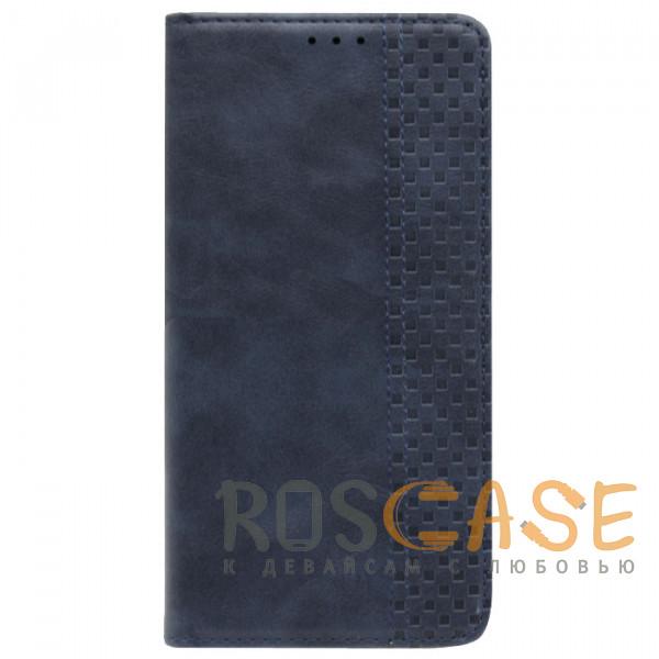 Фотография Темно-синий Business Wallet   Кожаный чехол книжка с визитницей для Huawei Y8P / P Smart S