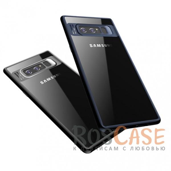 Прозрачный пластиковый чехол с антиударным бампером и защитой камеры для Samsung Galaxy Note 8Описание:совместим с Samsung Galaxy Note 8;производитель: ROCK;ультратонкий дизайн;защита задней панели и боковых граней;материал - TPU, пластик;тип - накладка;защищает от ударов и царапин;предусмотрены все необходимые функцильнальные&amp;nbsp;вырезы.<br><br>Тип: Чехол<br>Бренд: ROCK<br>Материал: Поликарбонат