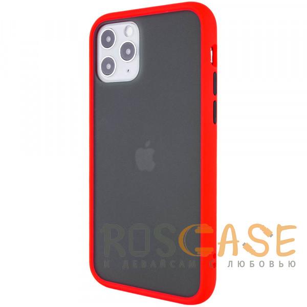 Фото Красный Противоударный матовый полупрозрачный чехол для iPhone 12 / 12 Pro