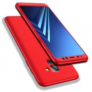 GKK LikGus 360° | Двухсторонний чехол для Samsung A730 Galaxy A8+ (2018) с защитными вставками