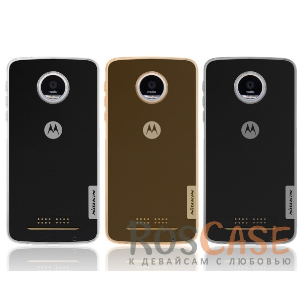 TPU чехол Nillkin Nature Series для Motorola Moto Z Play<br><br>Тип: Чехол<br>Бренд: Nillkin<br>Материал: TPU