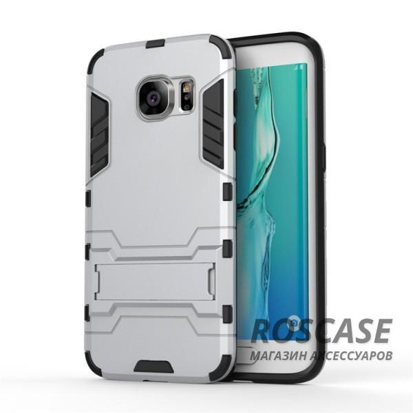 Ударопрочный чехол-подставка Transformer для Samsung G935F Galaxy S7 Edge с мощной защитой корпуса (Серебряный / Satin Silver)Описание:подходит для Samsung G935F Galaxy S7 Edge;материалы: термополиуретан, поликарбонат;формат: накладка.&amp;nbsp;Особенности:функциональные вырезы;функция подставки;двойная степень защиты;защита от механических повреждений;не скользит в руках.<br><br>Тип: Чехол<br>Бренд: Epik<br>Материал: TPU