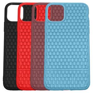 Рельефный силиконовый чехол Плетение для iPhone 11 Pro