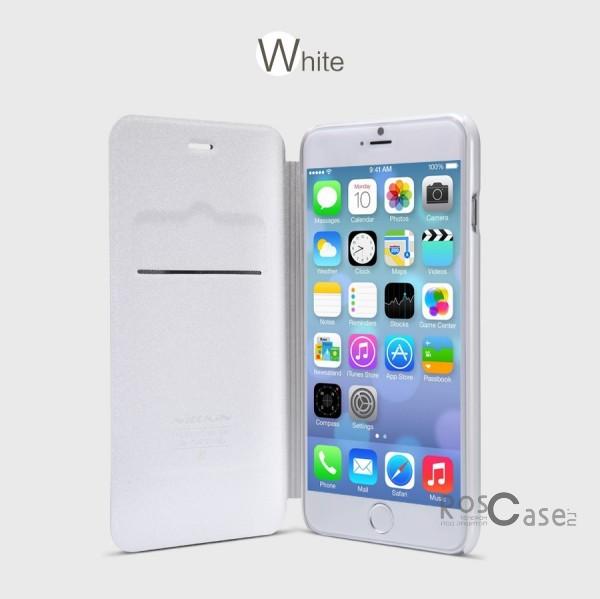 Защитный чехол-книжка для Apple iPhone 6 plus (5.5)  / 6s plus (5.5)  (Белый)Описание:изготовлен из синтетической кожи и поликарбоната;фактурная поверхность;тип конструкции: чехол-книжка;совместим с Apple iPhone 6 plus (5.5) / 6s plus (5.5).&amp;nbsp;Особенности:внутренняя отделка из микрофибры;ультратонкий;не скользит в руках;яркая, насыщенная палитра цветов.<br><br>Тип: Чехол<br>Бренд: Nillkin<br>Материал: Искусственная кожа