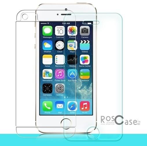 Антибликовое защитное стекло с олеофобным покрытием анти-отпечатки для Apple iPhone 5/5S/SE (+пленка на заднюю панель)Описание:бренд-производитель:&amp;nbsp;Nillkin;совместимость: Apple iPhone 5/5S/5SE;материал: закаленное стекло;тип: стекло.&amp;nbsp;Особенности:имеются все функциональные вырезы;антибликовое покрытие;в комплекте пленка на заднюю панель;твердость 9H;не влияет на чувствительность сенсора;легко очищается;толщина - &amp;nbsp;0,3 мм;анти-отпечатки.<br><br>Тип: Защитное стекло<br>Бренд: Nillkin