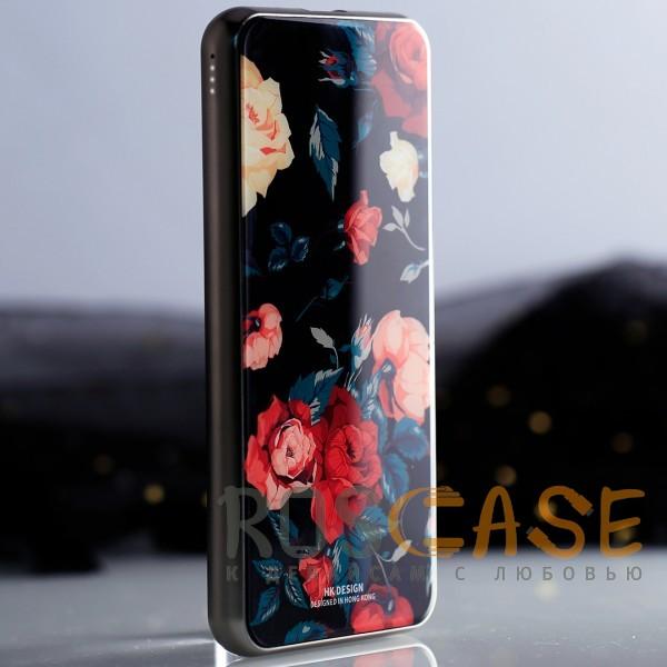 Фото Розы Bonen GlassPrint WK HP-55   Портативное зарядное устройство Power Bank со стеклянным покрытием и принтом (10000 mAh)