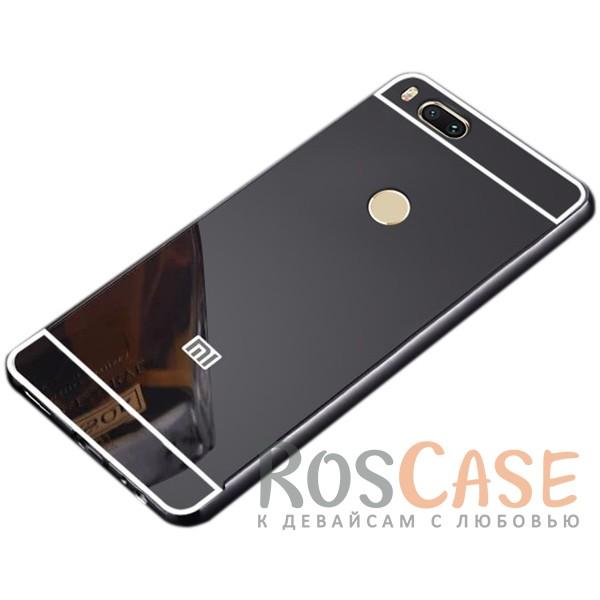 Защитный металлический бампер с зеркальной вставкой для Xiaomi Mi 5X / Mi A1 (Черный)Описание:разработан для Xiaomi Mi 5X / Mi A1;материалы - металл, акрил;тип - бампер с задней панелью;зеркальная поверхность;металлический бампер;защита от царапин и ударов.<br><br>Тип: Чехол<br>Бренд: Epik<br>Материал: Металл