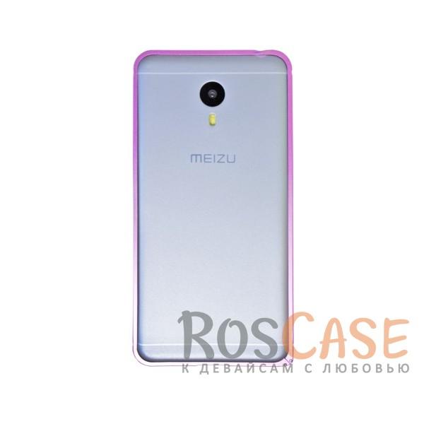 Металлический округлый бампер на пряжке для Meizu M3 Note (Розовый)<br><br>Тип: Бампер<br>Бренд: Epik