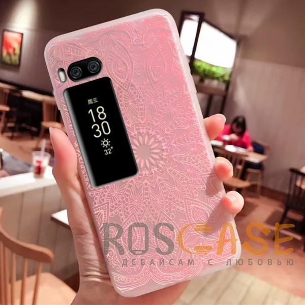 Фото Узор Розовый Силиконовый матовый чехол с принтом для Meizu Pro 7