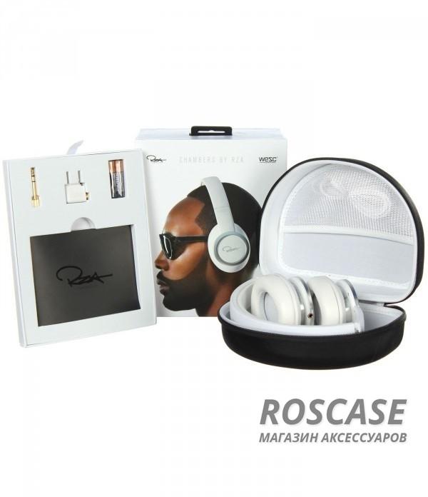 Наушники WESC RZA Premium Bright WhiteОписание:производитель  - WESC RZA;разъем  -  3,5 mini jack;тип  -  накладные наушники.&amp;nbsp;Особенности:футляр в комплекте;полное сопротивление: 32 Ом;чувствительность  -  110 Дб;максимальная входная мощность  -  34 мВт;частотный диапазон  -  20 - 20000 Гц;уровень шумоизоляции - 18 дБ;длина кабеля - 150 см&amp;nbsp;+ кабель с handsfree 100 см + 10 см удлинитель;вес - 260 г.<br><br>Тип: Наушники/Гарнитуры<br>Бренд: Epik