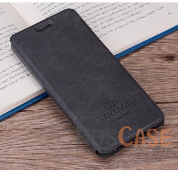 Винтажный кожаный чехол-книжка MOFI Vintage с отделением для карт и функцией подставки для Huawei Honor 8 Pro / Honor V9 (Темно-серый)Описание:компания-производитель: Mofi;совместимость: Huawei Honor 8 Pro / Honor V9;материалы: искусственная кожа, термополиуретан;функция подставки;отделение для карточек или купюр;формат: чехол-книжка;винтажный стиль.<br><br>Тип: Чехол<br>Бренд: Mofi<br>Материал: Искусственная кожа