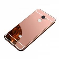 Металлический бампер для Xiaomi Redmi 4 с зеркальной вставкой