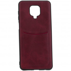 ILEVEL | Чехол с кожаным покрытием и карманом  для Xiaomi Redmi Note 9S