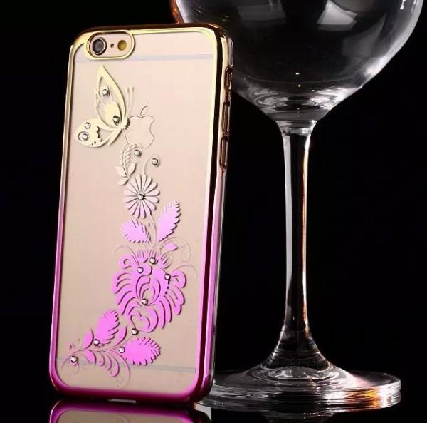 Пластиковая накладка Nice со стразами для Apple iPhone 6/6s (4.7) (Бабочка / золотой / розовый)Описание:производитель: Epik;совместимость: смартфон Apple iPhone 6/6s (4.7);материал: пластик;тип изделия: накладка.Особенности:оригинальный дизайн;украшен стразами;не деформируется;механизм легкой фиксации;легкая очистка.<br><br>Тип: Чехол<br>Бренд: Epik<br>Материал: TPU