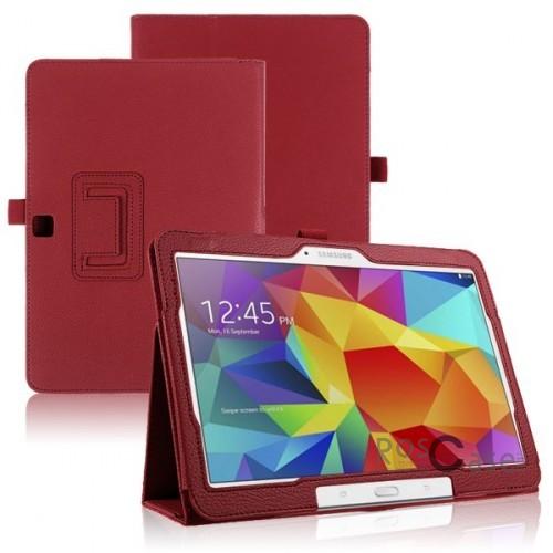 Кожаный чехол-книжка TTX c функцией подставки для Samsung Galaxy Tab 4 10.1/Galaxy Tab S 10.5 (Красный)Описание:разработка и изготовление TTX;изготовлен из синтетической кожи;фактурная поверхность;внутри отделан микрофиброй;тип конструкции: чехол-книжка;совместим с Samsung Galaxy Tab 4 10.1/Galaxy Tab S 10.5.&amp;nbsp;Особенности:износостойкий;добротный классический дизайн;может выполнять функцию подставки;широкая палитра цветов;легко очищается.<br><br>Тип: Чехол<br>Бренд: TTX<br>Материал: Искусственная кожа