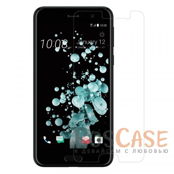 Ультратонкое антибликовое защитное стекло с олеофобным покрытием анти-отпечатки для HTC U PlayОписание:компания&amp;nbsp;Nillkin;подходит для HTC U Play;материал: закаленное стекло;защита экрана от царапин и ударов;свойство анти-отпечатки;свойство анти-блик;ультратонкое - 0,2 мм;закругленные края 2,5D;размеры стекла - 137*64.6 мм.<br><br>Тип: Защитное стекло<br>Бренд: Nillkin