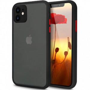 Противоударный матовый полупрозрачный чехол для iPhone 11 с защитой камеры