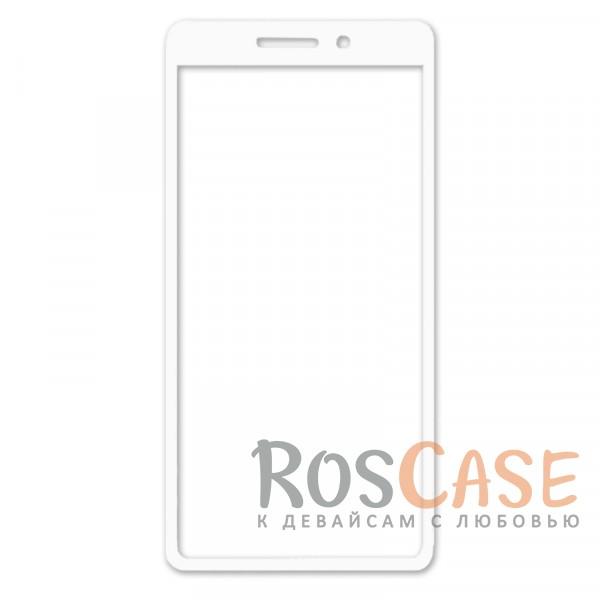 Фото Белый Защитное стекло с цветной рамкой на весь экран для Xiaomi Redmi 4a