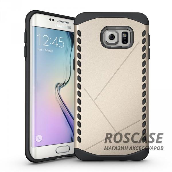 Противоударный защитный чехол Armor для Samsung Galaxy S6 Edge с усиленным прорезиненным бампером (Золотой)Описание:идеально совместим с&amp;nbsp;Samsung G925F Galaxy S6 Edge;материалы: термополиуретан, поликарбонат;формат: накладка.Особенности:защита от ударов;двойной корпус;не скользит в руках;усиленный бампер;присутствуют все необходимые вырезы.<br><br>Тип: Чехол<br>Бренд: Epik<br>Материал: TPU