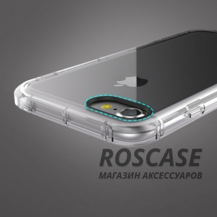 фото Черный / Transparent black TPU чехол ROCK Fence series для Apple iPhone 7 (4.7