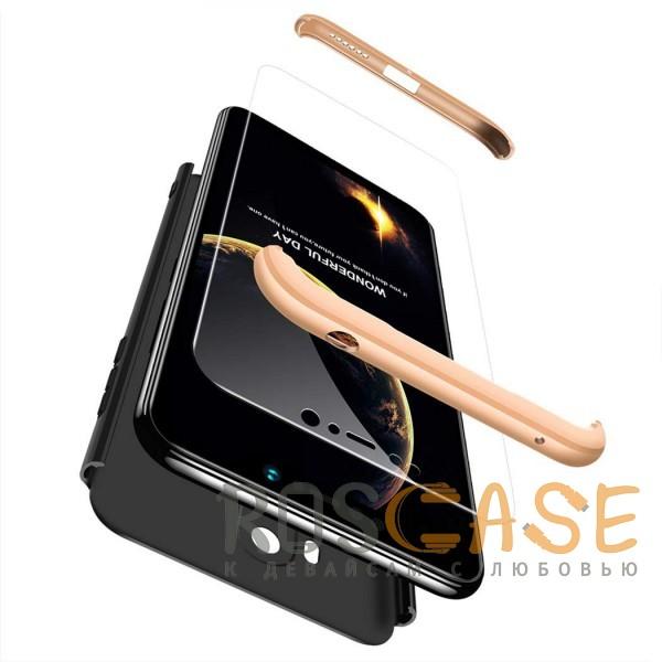 Изображение Черный / Золотой GKK LikGus 360° | Двухсторонний чехол для Xiaomi Pocophone F1 с защитными вставками