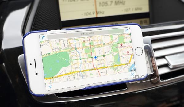 Изображение Синий / Navy Blue Rock Car Mount | Чехол для Apple iPhone 6/6s с функцией подставки + автодержатель