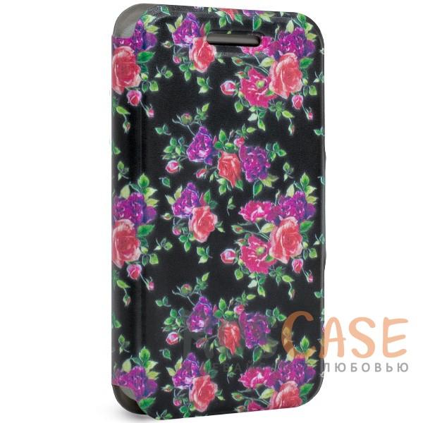 Универсальный чехол-книжка Gresso Виктория-Розы для смартфона 4.5-4.8 дюйма<br><br>Тип: Чехол<br>Бренд: Gresso<br>Материал: Искусственная кожа
