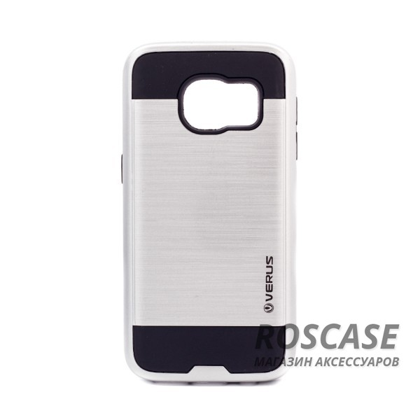Двухслойный ударопрочный чехол с защитными бортами экрана Verge для Samsung G930F Galaxy S7 (Серебряный)Описание:бренд - Verge;разработан для&amp;nbsp;Samsung G930F Galaxy S7;материал - термополиуретан, поликарбонат;тип - накладка.&amp;nbsp;Особенности:защита от ударов;не препятствует работе со смартфоном;не скользит в руках;высокие бортики защищают экран;надежное крепление;укрепленная конструкция.<br><br>Тип: Чехол<br>Бренд: Epik<br>Материал: TPU