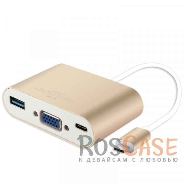 Фото Переходник Baseus Sharp Series (Type-C To VGA + USB 3.0 Adapter)