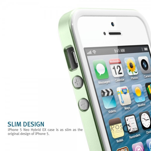фотография Зеленый / Metal Green / SGP10035 Бампер SGP Neo Hybrid EX Slim Metal Series для Apple iPhone 5/5S/SE (+ пленка)