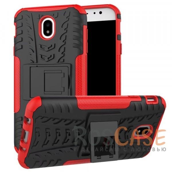 Shield | Противоударный чехол для Samsung J730 Galaxy J7 (2017) с подставкой (Красный)Описание:совместим с Samsung J730 Galaxy J7 (2017);удобная функция подставки;материал - поликарбонат, термополиуретан;тип - накладка;ударопрочная конструкция;предусмотрены все необходимые вырезы;рельефная фактура.<br><br>Тип: Чехол<br>Бренд: Epik<br>Материал: TPU