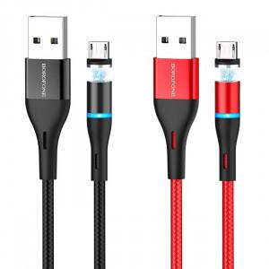 Borofone BU16 | Магнитный USB кабель Micro-USB для зарядки телефона 2.4A 1.2 метра