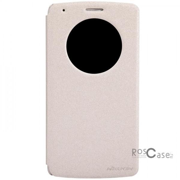 Кожаный чехол (книжка) Nillkin Sparkle Series для LG D855/D850/D856 Dual G3 (Золотой)Описание:Изготовлен компанией Nillkin;Спроектирован персонально для LG D855/D850/D856 Dual G3;Материал: синтетическая кожа и поликарбонат;Форма: чехол в виде книжки.Особенности:Исключается появление царапин и возникновение потертостей;Восхитительная амортизация при любом ударе;Фактурная поверхность;Удобное интерактивное окошко;Не подвергается деформации;Непритязателен в уходе.<br><br>Тип: Чехол<br>Бренд: Nillkin<br>Материал: Искусственная кожа
