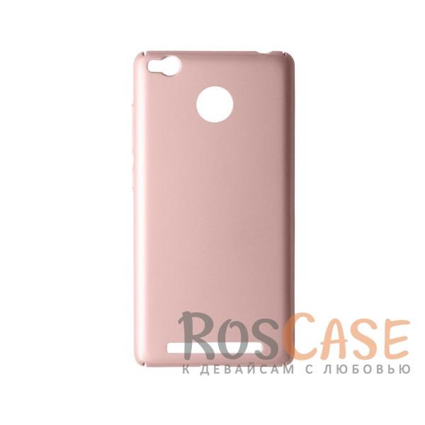 Пластиковая накладка soft-touch с защитой торцов Joyroom для Xiaomi Redmi 3 Pro / Redmi 3s (Розовый)<br><br>Тип: Чехол<br>Бренд: Epik<br>Материал: Пластик