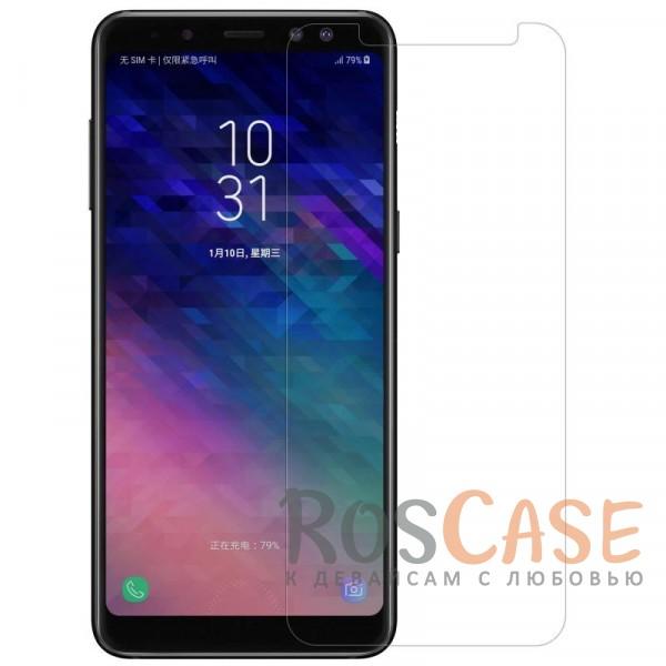 Прозрачная глянцевая защитная пленка Nillkin Crystal на экран с гладким пылеотталкивающим покрытием для Samsung A730 Galaxy A8+ (2018) (Анти-отпечатки)Описание:совместимость - Samsung A730 Galaxy A8+ (2018);материал: полимер;тип: прозрачная пленка;ультратонкая;защита от царапин и потертостей;фильтрует УФ-излучение;размер пленки - 152*67,2 мм.<br><br>Тип: Защитная пленка<br>Бренд: Nillkin