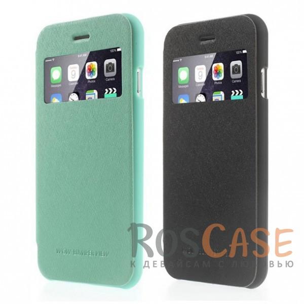 Чехол-книжка Mercury Wow Bumper с окном для экрана с внутренним карманом для Apple iPhone 6/6s (4.7)Описание:компания&amp;nbsp;Mercury;разработан для Apple iPhone 6/6s (4.7);материалы  -  искусственная кожа, термополиуретан;тип  -  чехол-книжка.все функциональные вырезы в наличии;слот для визиток;ударопрочный;защищает смартфон со всех сторон;легко устанавливается;не скользит в руках.<br><br>Тип: Чехол<br>Бренд: Mercury<br>Материал: Искусственная кожа