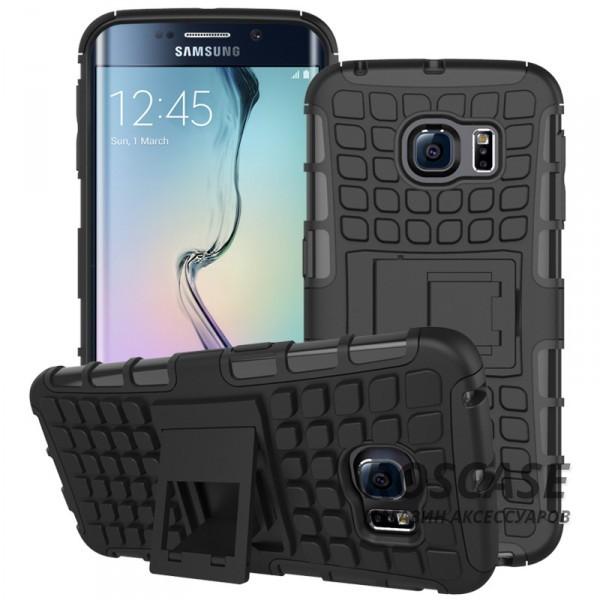 Противоударный двухслойный чехол Shield для Samsung G925F Galaxy S6 Edge с подставкой (Черный)Описание:разработан специально для Samsung G925F Galaxy S6 Edge;материалы: поликарбонат, термополиуретан;тип: накладка.&amp;nbsp;Особенности:двухслойный;ударопрочный;оригинальный дизайн;стильный дизайн;в наличии все функциональные вырезы;функция подставки.<br><br>Тип: Чехол<br>Бренд: Epik<br>Материал: TPU